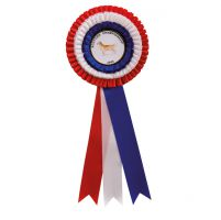 Red White and Blue Rosette 305mm