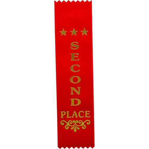 2nd Place Red Ribbon 200 x 50mm