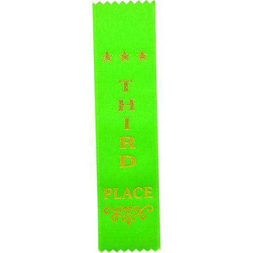 3rd Place Green Ribbon 200 x 50mm