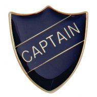 Scholar Pin Badge Captain Blue 25mm