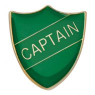 Scholar Pin Badge Captain Green 25mm