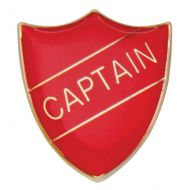 Scholar Pin Badge Captain Red 25mm