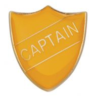 Scholar Pin Badge Captain Yellow 25mm