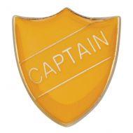 Scholar Pin Badge Captain Yellow 25mm