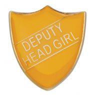 Scholar Pin Badge Deputy Head Girl Yellow 25mm