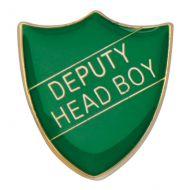 Scholar Pin Badge Deputy Head Boy Green 25mm