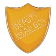 Scholar Pin Badge Deputy Head Boy Yellow 25mm