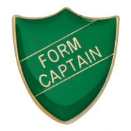 Scholar Pin Badge Form Captain Green 25mm