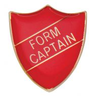 Scholar Pin Badge Form Captain Red 25mm