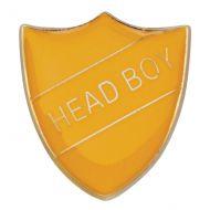Scholar Pin Badge Head Boy Yellow 25mm
