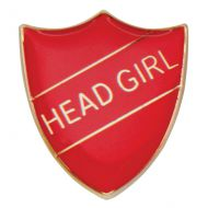 Scholar Pin Badge Head Girl Red 25mm