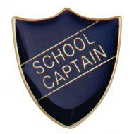 Scholar Pin Badge School Captain Blue 25mm