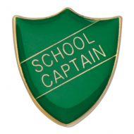 Scholar Pin Badge School Captain Green 25mm