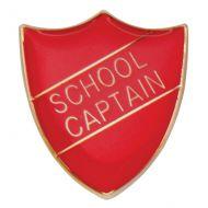 Scholar Pin Badge School Captain Red 25mm