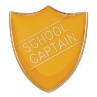 Scholar Pin Badge School Captain Yellow 25mm