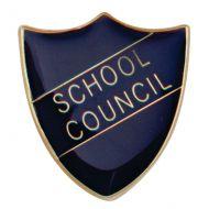 Scholar Pin Badge School Council Blue 25mm