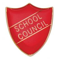Scholar Pin Badge School Council Red 25mm