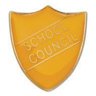 Scholar Pin Badge School Council Yellow 25mm