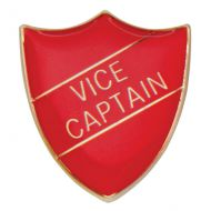 Scholar Pin Badge Vice Captain Red 25mm
