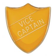 Scholar Pin Badge Vice Captain Yellow 25mm