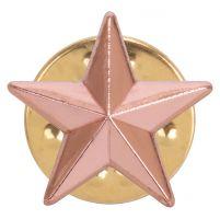 3D Bronze Star Pin Badge 12mm : New 2019