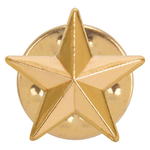 3D Gold Star Pin Badge 12mm : New 2019