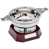 The Highland Quaich In Steel On Base 100mm (4