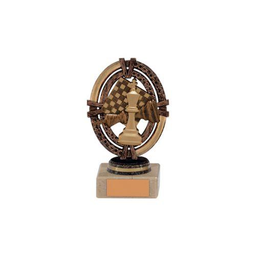Maverick Legend Block Chess Bronze 125mm