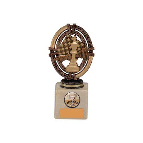 Maverick Legend Block Chess Bronze 150mm