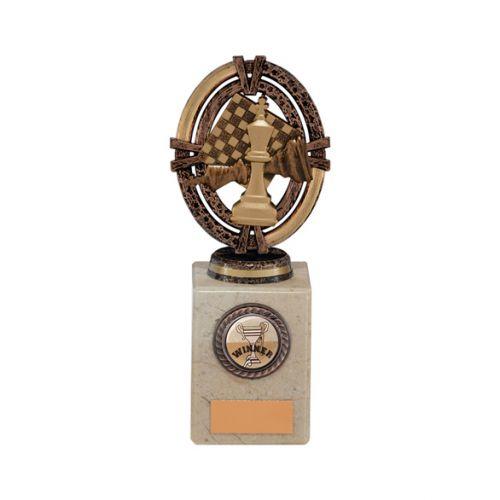 Maverick Legend Block Chess Bronze 175mm