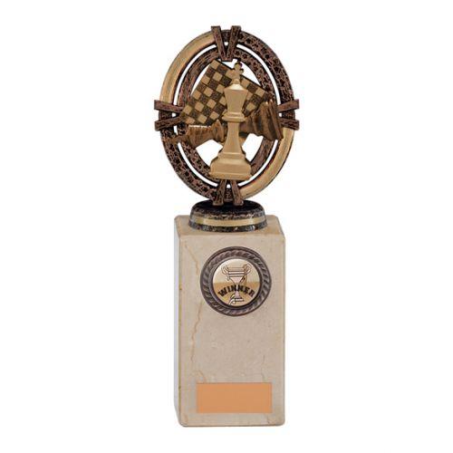 Maverick Legend Block Chess Bronze 200mm