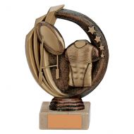 Renegade Rugby Legend Trophy Award Antique Bronze and Gold 140mm