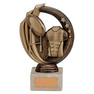 Renegade Rugby Legend Trophy Award Antique Bronze and Gold 150mm