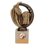 Renegade Rugby Legend Trophy Award Antique Bronze and Gold 170mm