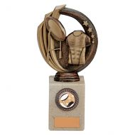 Renegade Rugby Legend Trophy Award Antique Bronze and Gold 195mm