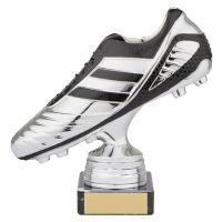 World Striker Premium Football Boot Trophy Award Silver and Black 150mm : New 2019