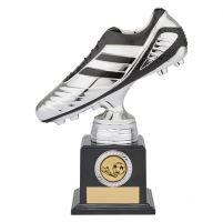 World Striker Premium Football Boot Trophy Award Silver and Black 200mm : New 2019