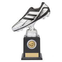 World Striker Premium Football Boot Trophy Award Silver and Black 220mm : New 2019