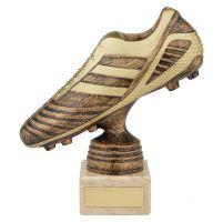 World Striker Premium Football Boot Trophy Award Antique Bronze and Gold 160mm : New 2019