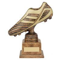 World Striker Premium Football Boot Trophy Award Antique Bronze and Gold 185mm : New 2019