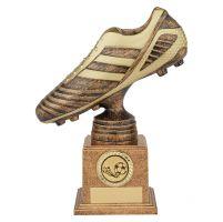 World Striker Premium Football Boot Trophy Award Antique Bronze and Gold 200mm : New 2019