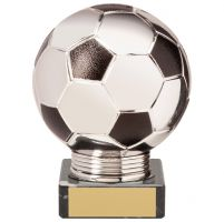 Valiant Legend Football Trophy Award Silver and Black 115mm : New 2020