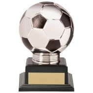 Valiant Legend Football Trophy Award Silver and Black 130mm : New 2020