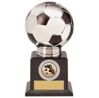 Valiant Legend Football Trophy Award Silver and Black 160mm : New 2020