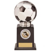 Valiant Legend Football Trophy Award Silver and Black 180mm : New 2020