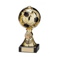 Sienna Football Trophy Award Gold and Black 160mm