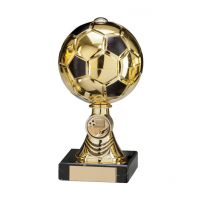 Sienna Football Trophy Award Gold and Black and TB 180mm