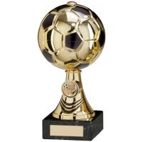 Sienna Football Trophy Award Gold and Black and TB 220mm