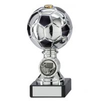 Milano Football Trophy Award Silver and Black 140mm