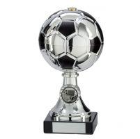 Milano Football Trophy Award Silver and Black 195mm